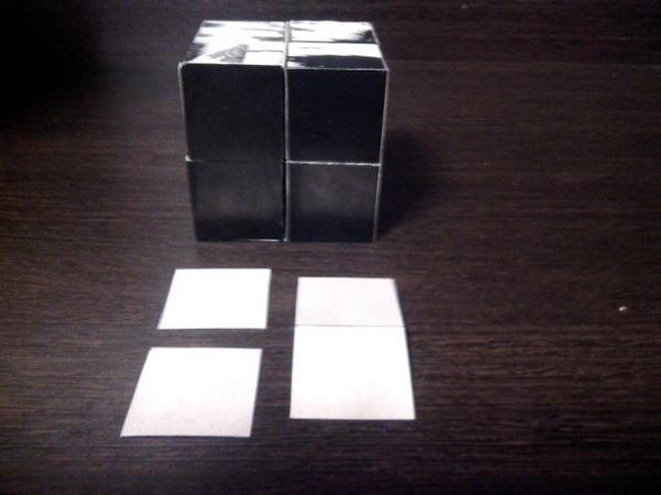 клеим картинки к кубику трансформеру