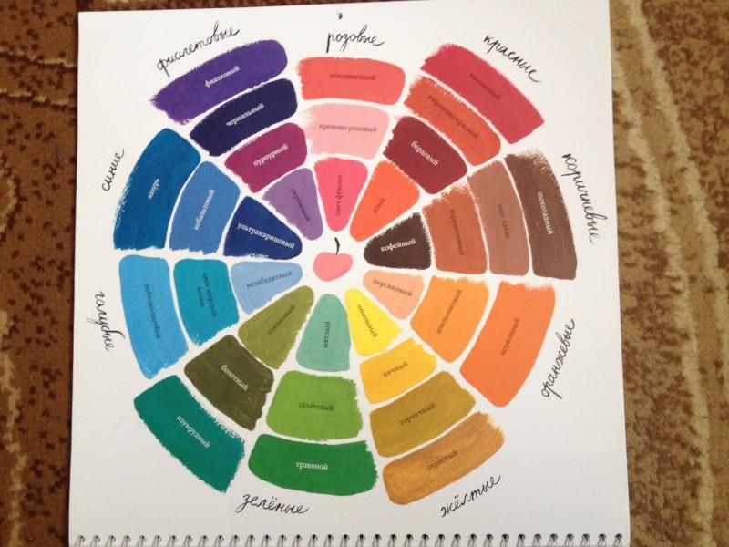 цветной календарь Зины Суровой